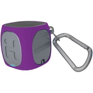 IHM Bluetooth(R) Rechargeable Mini Speaker System (Purple-Gray) IBT55UGXC