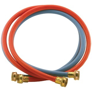 CERTIFIED APPLIANCE Red-Blue EDPM Rubber Washing Machine Hoses 2 pk (4ft) WM48RBR2PK