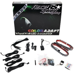 RACE SPORT ColorADAPT(TM) Wheel Well LED Accent Kit RSWWKIT