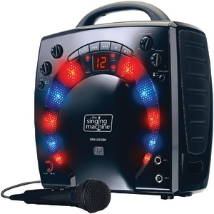 THE SINGING MACHINE Portable Karaoke Systems (Black) SML283BK