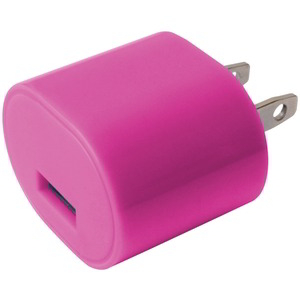 1A USB WALL CHARGER PINK
