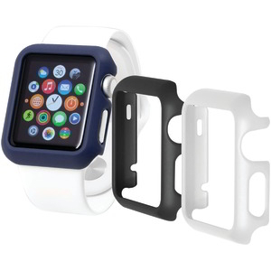 TRIDENT CASE Odyssey Guard for Apple Watch(R) 3 pk (Black-White-Blue) OD-APWG04-BWL00