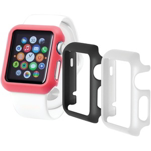 TRIDENT CASE Odyssey Guard for Apple Watch(R) 3 pk (Black-White-Pink) OD-APWG03-BWP00