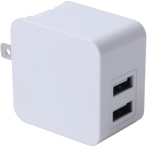 3.4-Amp Dual-Port USB Wall Charger (White)