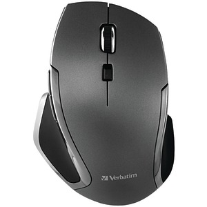 VERBATIM Wireless Notebook 6-Button Deluxe Blue LED Mouse (Graphite) 98621