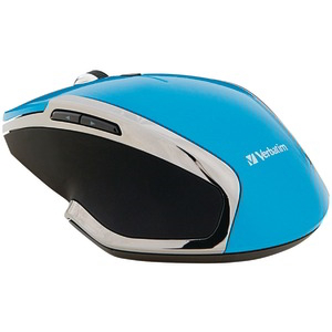 VERBATIM Wireless Notebook 6-Button Deluxe Blue LED Mouse (Blue) 99016