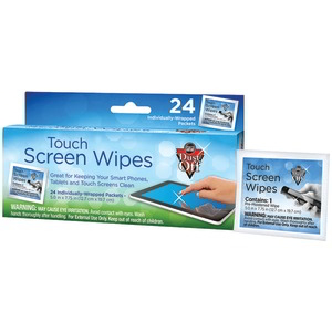 DUST OFF Touchscreen Wipes (24 ct) DCW