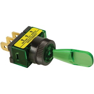 BATTERY DOCTOR On/off Illuminated 20-Amp Toggle Switch (Green) 20501