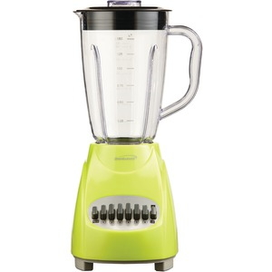 BRENTWOOD 12-Speed Blender with Plastic Jar (Lime Green) JB-220G
