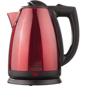 BRENTWOOD 1.7-Liter Red Stainless Steel Electric Cordless Tea Kettle KT-1805