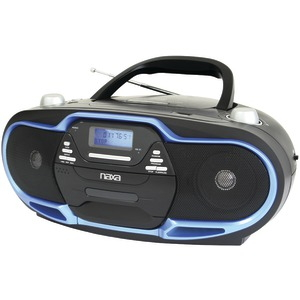 DUPLICATE Portable MP3 & CD Player with AM/FM Radio NPB-257 BL