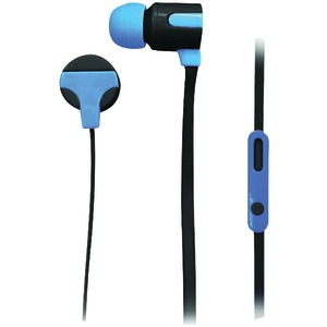 NAXA ASTRA Isolation Stereo Earphones with Microphone (Blue) NE-939 BLUE