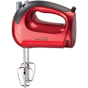 BRENTWOOD 5-Speed Red Hand Mixer HM-46