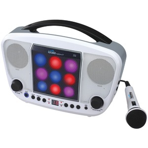 KARAOKE NIGHT CD+G Karaoke Machine with LED Light Show KN104