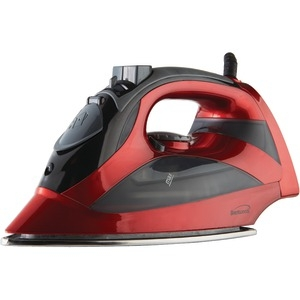 BRENTWOOD Steam Iron with Auto Shutoff (Red) MPI-90R