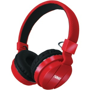 NAXA Bluetooth(R) Wireless Stereo Headphones with Microphone (Red) NE-942 RED