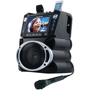 KARAOKE USA DVD/CD+G/MP3+G Bluetooth(R) Karaoke System with 7 inch. TFT Color Screen GF840