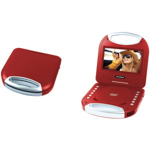 SYLVANIA 7 inch. Portable DVD Player with Integrated Handle (Red) SDVD7049-RED
