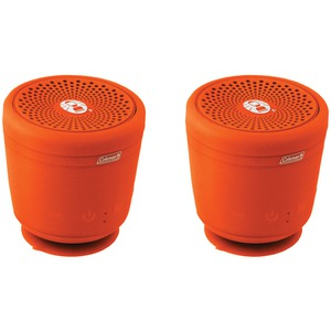 COLEMAN AktivSounds TWS Waterproof Bluetooth(R) Speaker (Orange; 2 pk) CBT10TWS-O-2P
