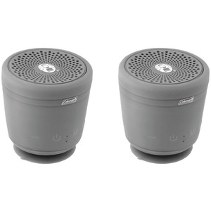 COLEMAN AktivSounds TWS Waterproof Bluetooth(R) Speaker (Gray; 2 pk) CBT10TWS-GY-2P