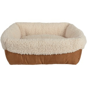 PETSPACES Faux-Suede Cuff Pet Bed 11311-04