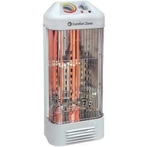 COMFORT ZONE Quartz Deluxe Fan-Force Heater CZQTV6