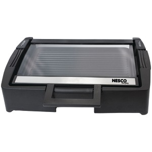 NESCO 1,300-Watt Glass Grill with Glass Lid GRG-1000