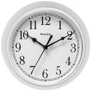 WESTCLOX 9 inch. Decorative Wall Clock (White) 46994A