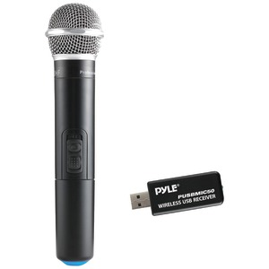 PYLE Wireless Microphone & USB Receiver PUSBMIC50