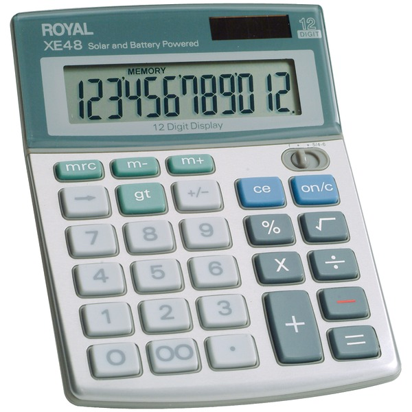 ROYAL 29306S Compact Desktop Solar 12-Digit Calculator