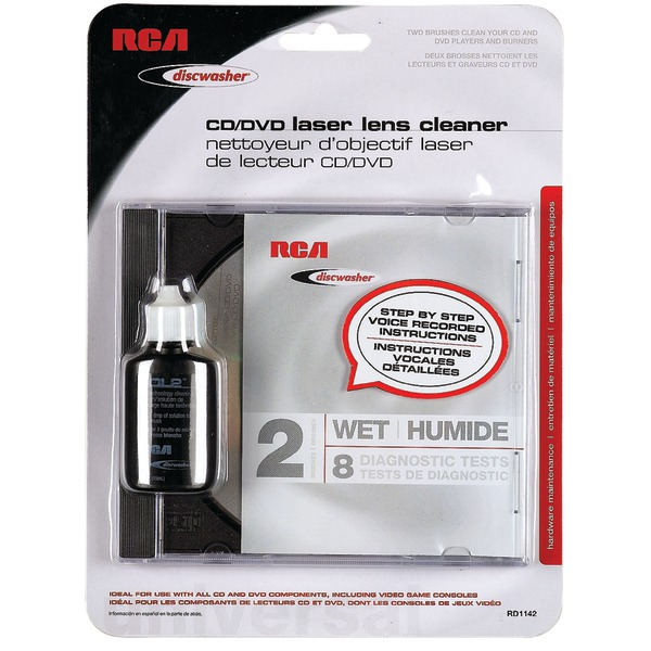 DISCWASHER RD1142 CD/DVD Laser Lens Cleaners (2-Brush Wet)