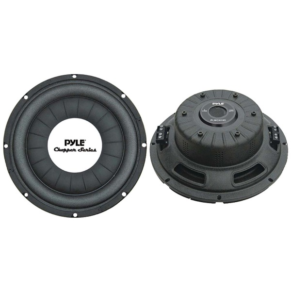 PYLE PLWCH10D Chopper Series Shallow-Mount Subwoofer (10 Inch. 500 Watts)