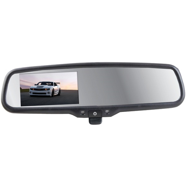 CRIMESTOPPER SV-9157 4.3 Inch. Replacement-Style Manual-Dimming Mirror Monitor with Digital Color LCD Screen