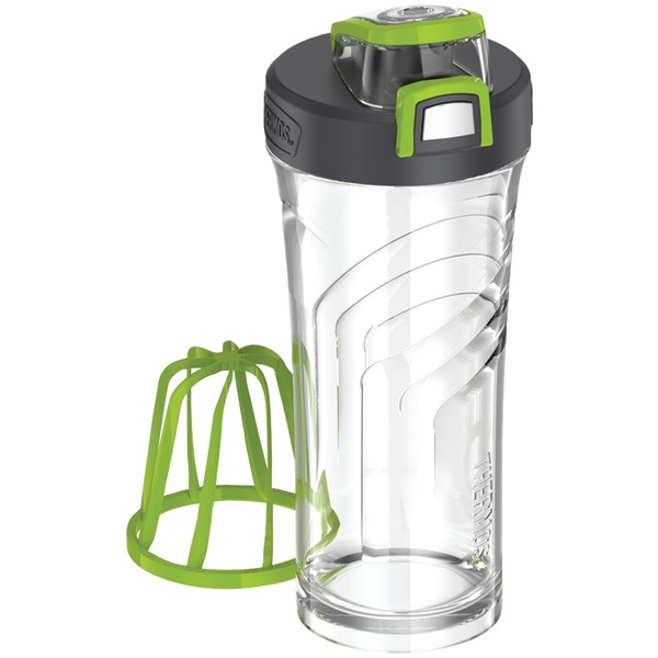 THERMOS TP4086GR6 Eastman Tritan(TM) Shaker Bottle with Integrated Mixer, 24oz