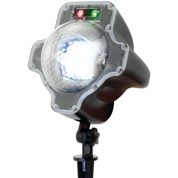 NIGHT STARS LL03-SRG-R Premium Series Landscape Lighting Laser with White Snow Effect