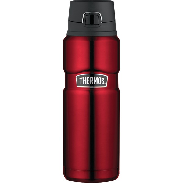 THERMOS SK4000CRTRI4 Stainless Steel Vacuum Insulated Beverage Bottle, 24oz (Cranberry Red)