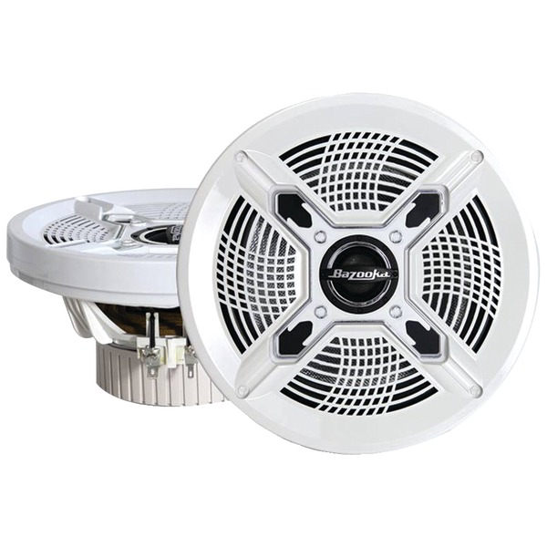 BAZOOKA MAC8100W Marine Coaxial Speakers (8 Inch. White)