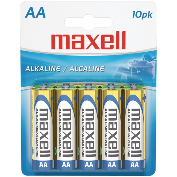 MAXELL 723410 - LR610BP Alkaline Batteries (AA 10 pk Carded)