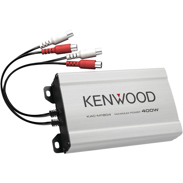 KENWOOD KAC-M1804 KAC Series 4-Channel 400-Watt Mini Multi-Application Power Amp