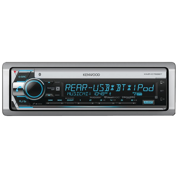 KENWOOD KMR-D768BT Single-DIN In-Dash Marine CD Receiver with Bluetooth & SiriusXM(R) Ready