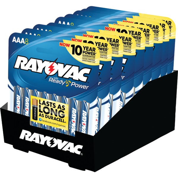 RAYOVAC 824-8CTF2 Alkaline Peggable Carded AAA Batteries (8 pk)