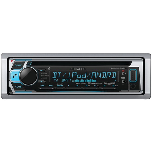 KENWOOD KMR-D368BT Single-DIN In-Dash Marine CD Receiver with Bluetooth & SiriusXM(R) Ready