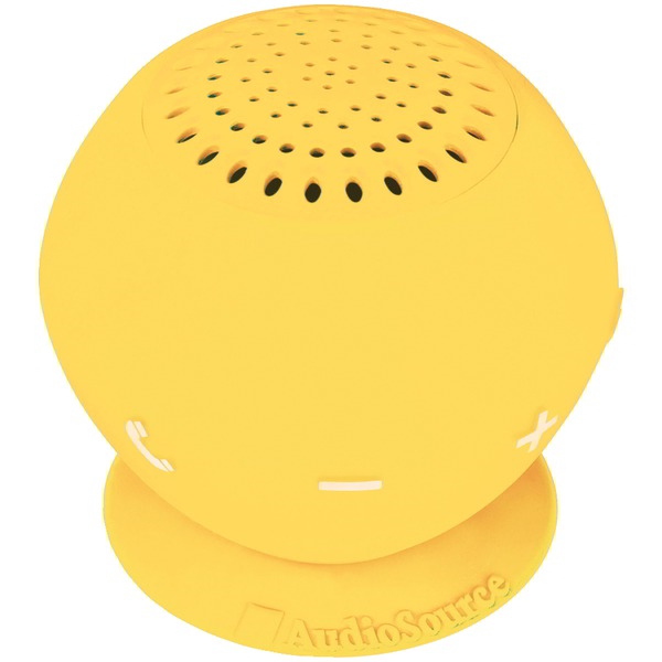 AUDIOSOURCE SP2YEL Sound pOp 2 Water-Resistant Bluetooth(R) Speaker (Yellow)