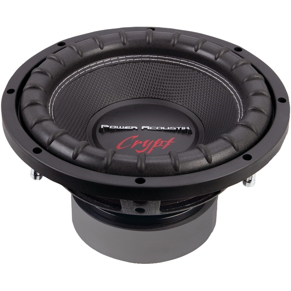 POWER ACOUSTIK CW2-104 Crypt Series Dual Voice-Coil Subwoofer (10 Inch. 1800 Watts 4Ω)