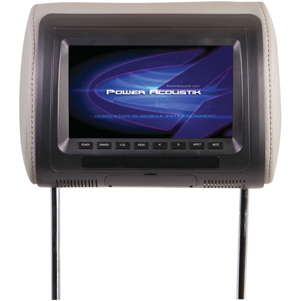 POWER ACOUSTIK H-71CC Universal Headrest Monitor with IR Transmitter (7 Inch.)