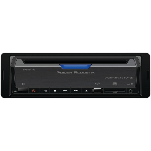 POWER ACOUSTIK PADVD-390 Single-DIN In-Dash DVD Receiver