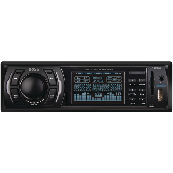 BOSS AUDIO 612UA Single-DIN In-Dash Mechless Receiver