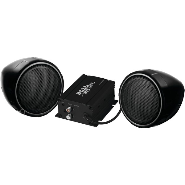 BOSS AUDIO MCBK400 All-Terrain 600-Watt Black Speaker & Amp System (Without Bluetooth(R))