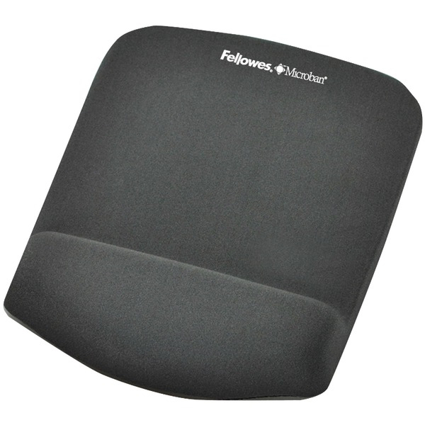 FELLOWES 9252201 Plush Touch Mouse Pad with Wristrest