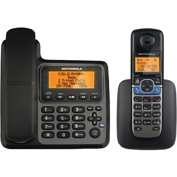MOTOROLA L702CBT DECT 6.0 Corded/Cordless 2-Handset Phone System with Bluetooth(R) Link